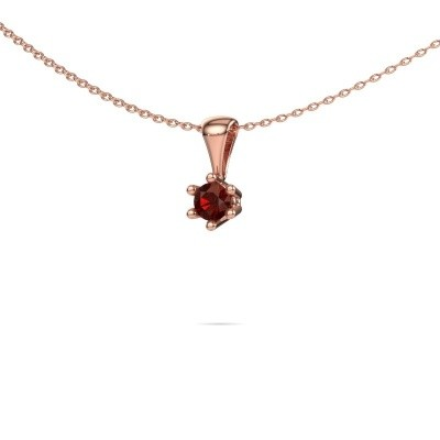 Picture of Necklace Fay 375 rose gold garnet 4 mm