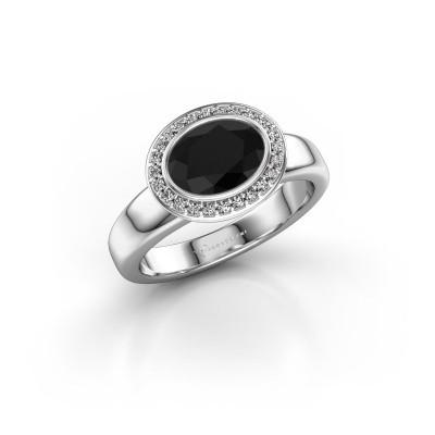 Foto van Ring Salena 375 witgoud zwarte diamant 1.380 crt