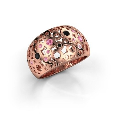 Ring Jaylinn 2 375 rosé goud roze saffier 2.2 mm