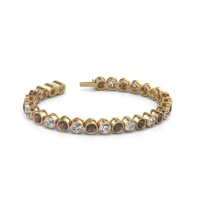 Foto van Tennisarmband Mandi 375 goud rookkwarts 5 mm