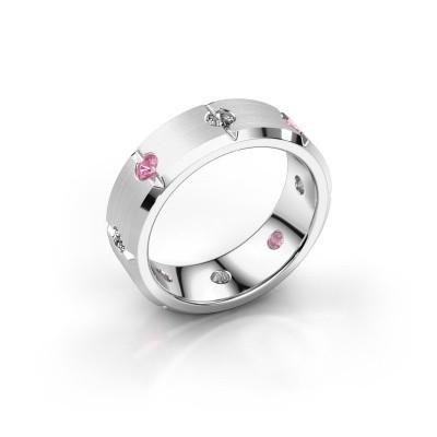 Men's ring Irwin 375 white gold pink sapphire 2.7 mm
