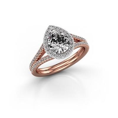Foto van Verlovingsring Elenore 2 585 rosé goud diamant 1.337 crt