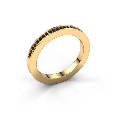 Aanschuifring Loes 2 585 goud zwarte diamant 0.176 crt