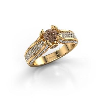 Verlovingsring Jeanne 2 375 goud bruine diamant 1.026 crt
