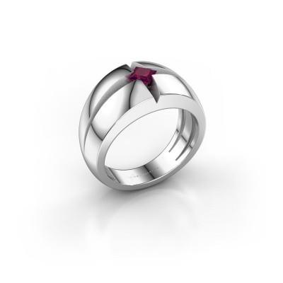 Foto van Heren ring Rens 925 zilver rhodoliet 3.5 mm