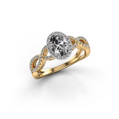 Engagement ring Dionne ovl 585 gold lab-grown diamond 1.13 crt
