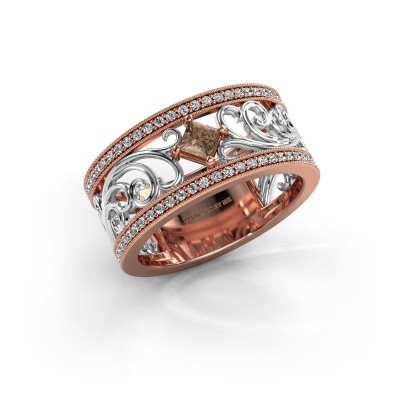 Ring Danae 585 rose gold brown diamond 0.58 crt
