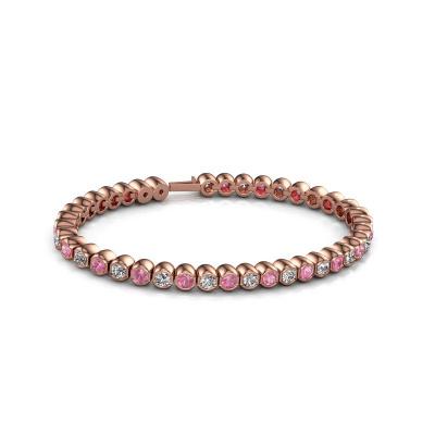 Foto van Tennisarmband Bianca 3.5 mm 375 rosé goud roze saffier 3.5 mm