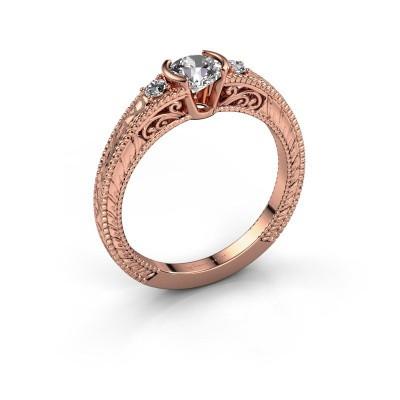 Foto van Verlovingsring Anamaria 375 rosé goud diamant 0.59 crt