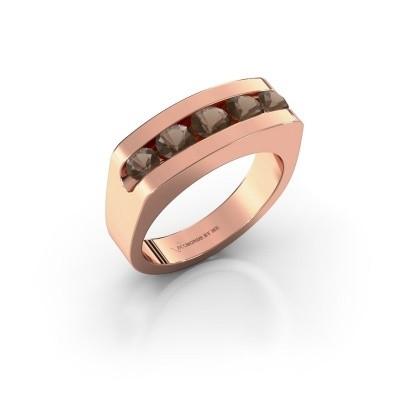 Picture of Men's ring Richard 375 rose gold smokey quartz 4 mm