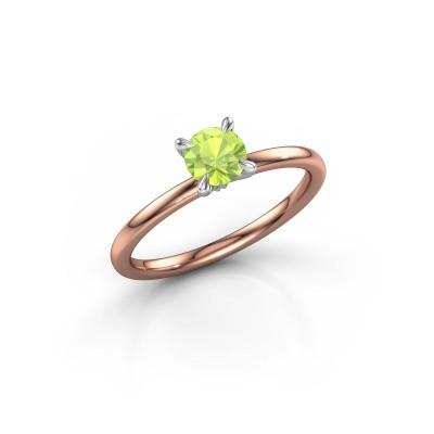 Foto van Verlovingsring Crystal RND 1 585 rosé goud peridoot 5 mm