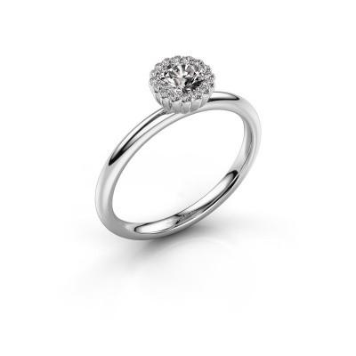 Verlovingsring Queen 950 platina diamant 0.38 crt