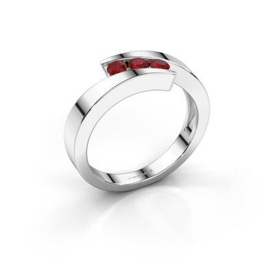 Foto van Ring Gracia 925 zilver robijn 2.7 mm