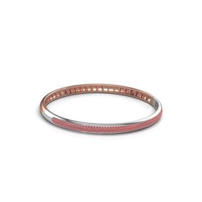 Foto van Armband Emely 5mm 585 rosé goud robijn 1.1 mm