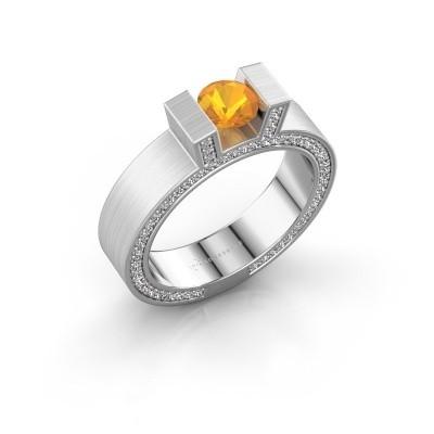 Foto van Ring Leena 2 925 zilver citrien 5 mm