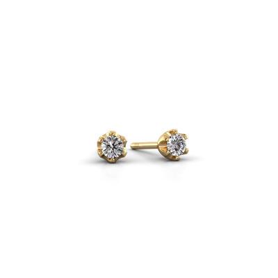 Bild von Ohrsteckers Fran 585 Gold Diamant 0.08 crt