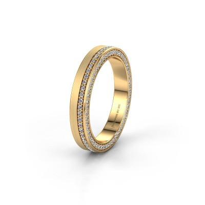Foto van Trouwring WH2214L15BM 375 goud diamant 0.55 crt ±5x2 mm
