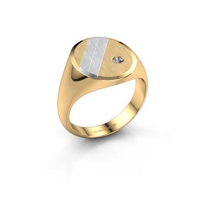 Foto van Zegelring Wesley 4 585 goud diamant 0.06 crt