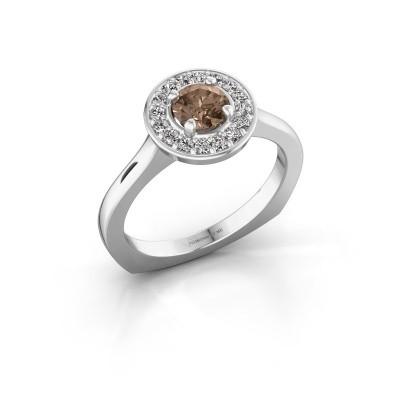Foto van Ring Kanisha 1 585 witgoud bruine diamant 0.692 crt