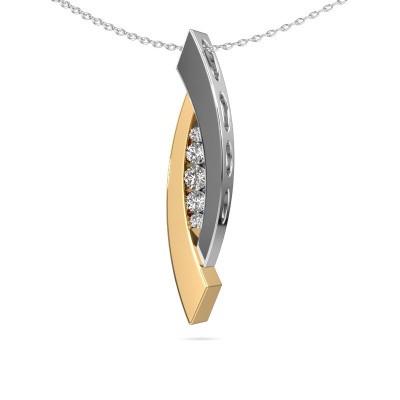 Foto van Hanger Joanie 585 goud diamant 0.25 crt
