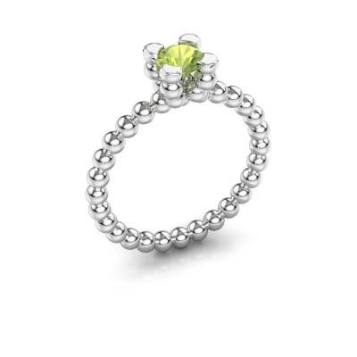 Ring Aurore 950 platina peridoot 5 mm