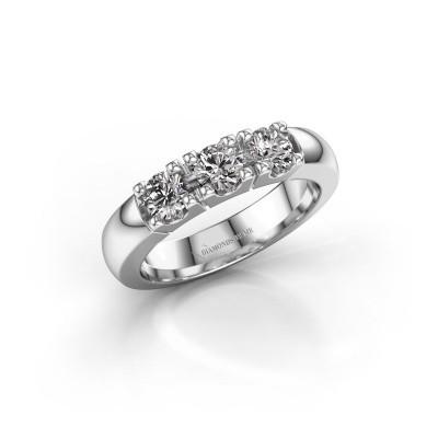 Verlovingsring Rianne 3 925 zilver diamant 0.75 crt