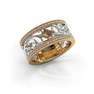 Foto van Ring Danae 585 goud bruine diamant 0.58 crt