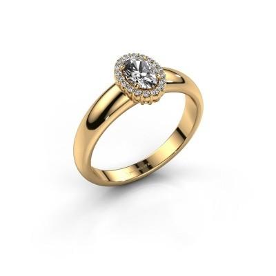 Verlovingsring Tamie 375 goud zirkonia 6x4 mm
