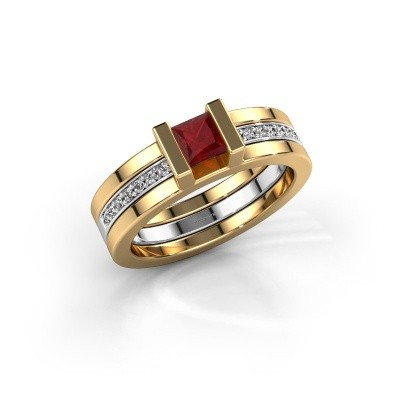 Picture of Ring Desire 585 gold ruby 4 mm