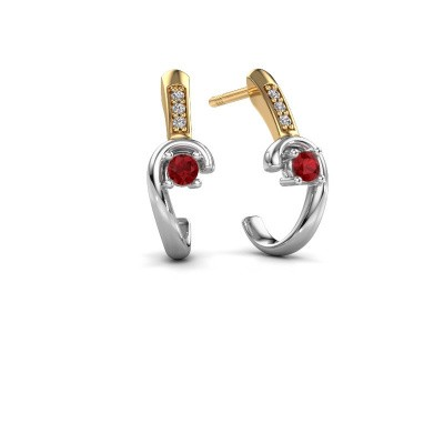 Earrings Ceylin 585 white gold ruby 2.5 mm