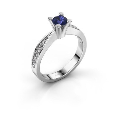Promise ring Ichelle 2 585 witgoud saffier 4.7 mm