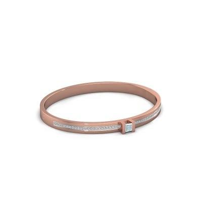 Armband Desire 585 rosé goud aquamarijn 4 mm