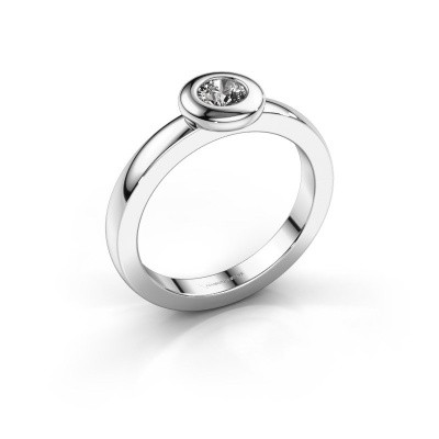 Foto van Ring Iris 585 witgoud diamant 0.25 crt