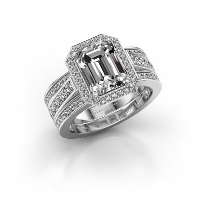 Foto van Ring Dodie 3 585 witgoud lab-grown diamant 3.49 crt