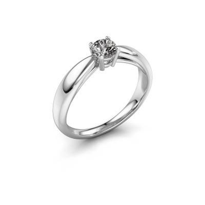 Bague de fiançailles Nichole 925 argent diamant synthétique 0.30 crt