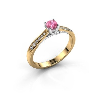 Picture of Engagement ring Mia 2 585 gold pink sapphire 4.2 mm
