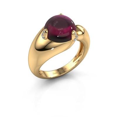 Foto van Ring Pasty 585 goud rhodoliet 10 mm