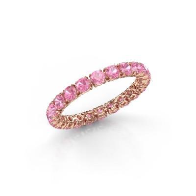 Foto van Ring Vivienne 2.7 375 rosé goud roze saffier 2.7 mm
