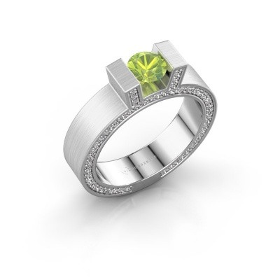 Picture of Ring Leena 2 585 white gold peridot 5 mm