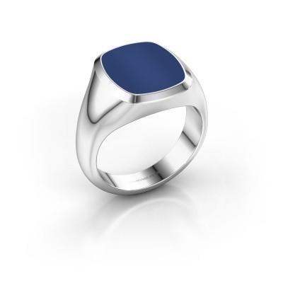 Foto van Zegelring Benjamin 3 950 platina lapis lazuli 14x12 mm