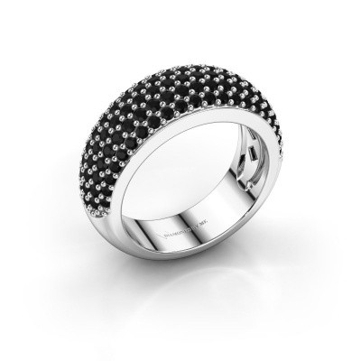 Foto van Ring Cristy 585 witgoud zwarte diamant 1.71 crt