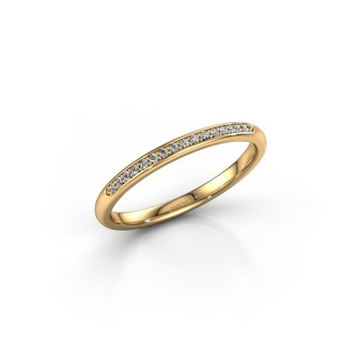 Stackable ring SR20B2H 375 gold diamond 0.08 crt