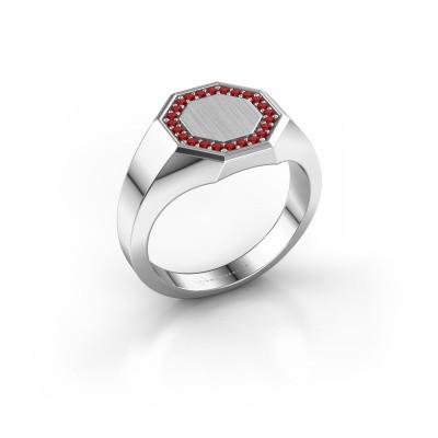 Men's ring Floris Octa 2 950 platinum ruby 1.2 mm