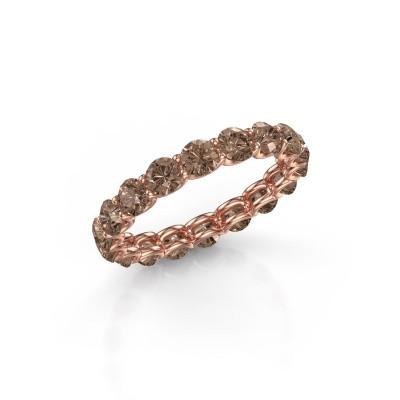 Foto van Ring Kirsten 3.4 375 rosé goud bruine diamant 2.700 crt