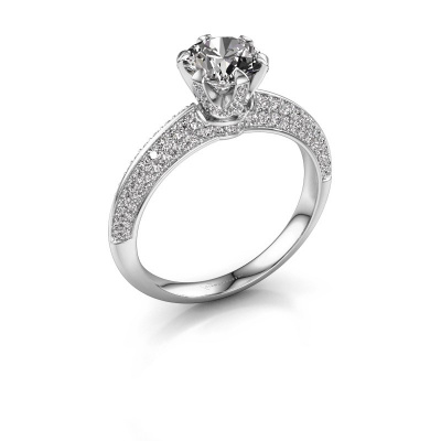 Picture of Engagement ring Abby 585 white gold diamond 1.65 crt
