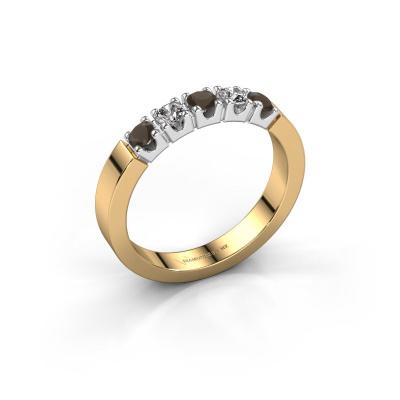 Verlovingsring Dana 5 585 goud rookkwarts 3 mm