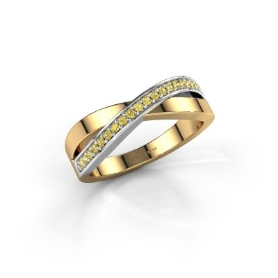 Foto van Ring Kaley 585 goud gele saffier 1.2 mm
