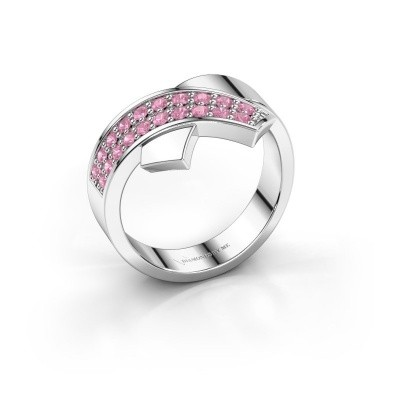 Picture of Ring Ivette 925 silver pink sapphire 1.3 mm