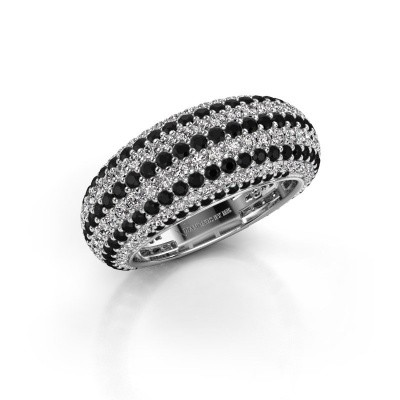 Foto van Ring Lyndia 585 witgoud zwarte diamant 3.058 crt