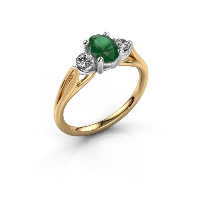 Picture of Engagement ring Amie OVL 585 gold emerald 7x5 mm